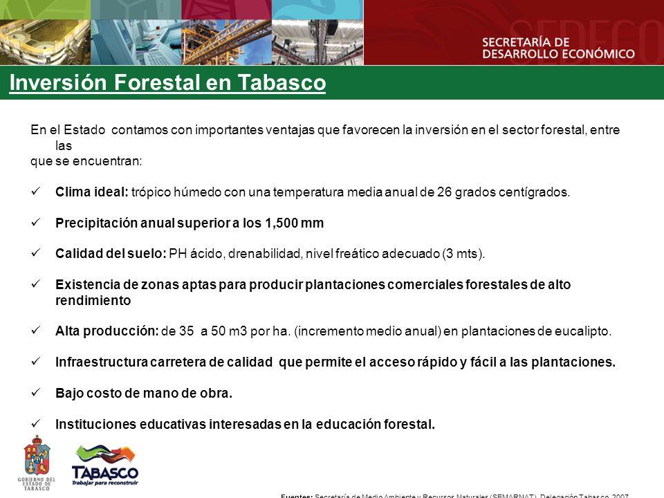 Inversión Forestal en Tabasco