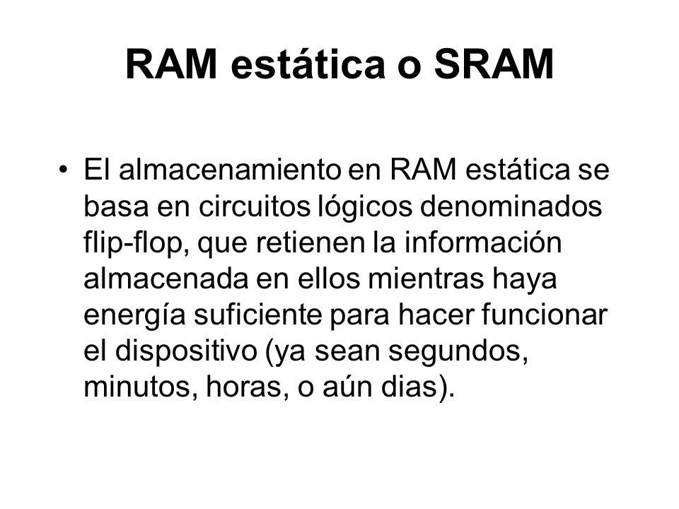 RAM estática o SRAM
