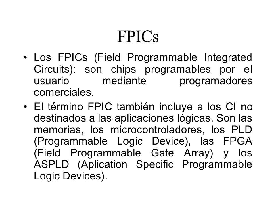 FPICs Los FPICs (Field Programmable Integrated Circuits): son chips programables por el usuario mediante programadores comerciales.
