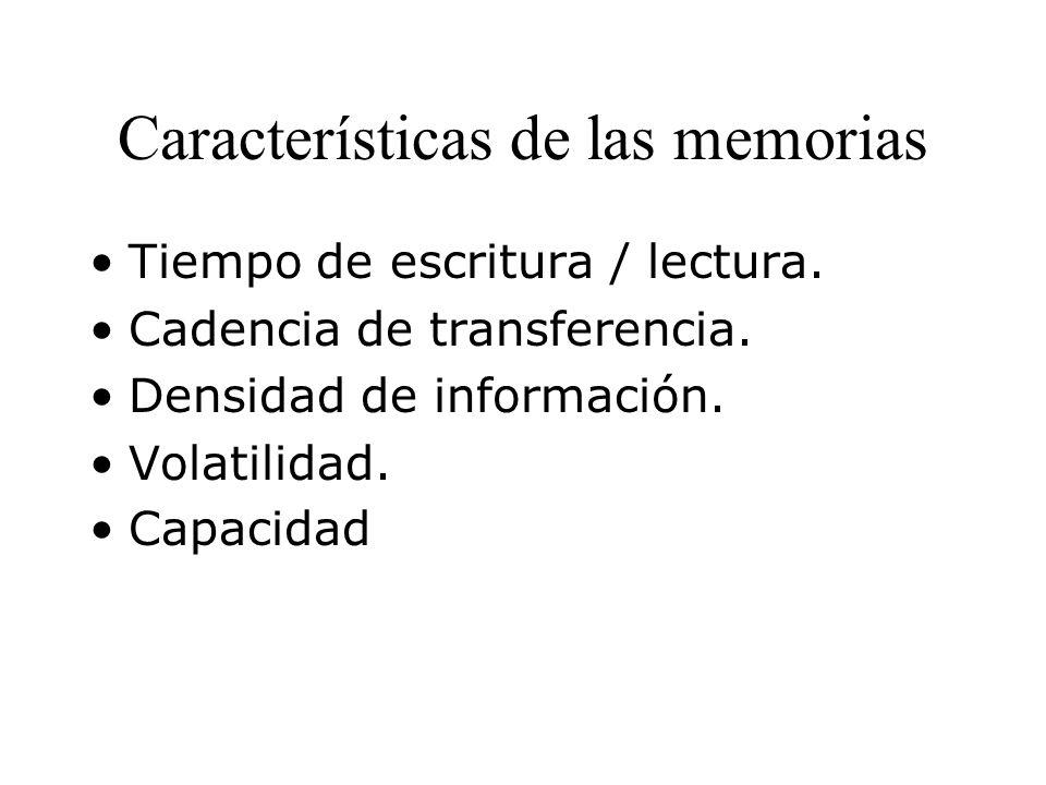 Características de las memorias