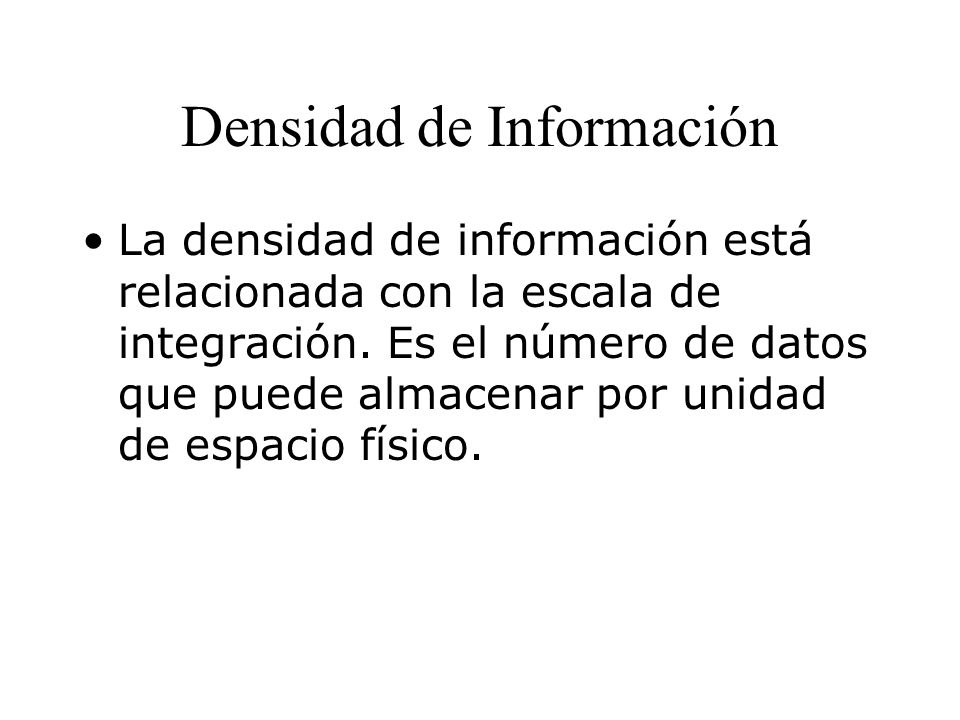 Densidad de Información
