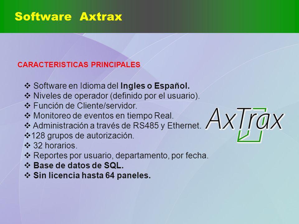 Software Axtrax Software en Idioma del Ingles o Español.