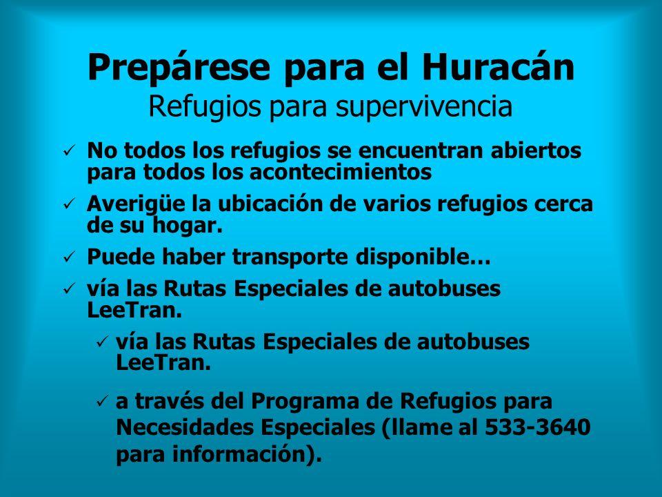 Prepárese para el Huracán Refugios para supervivencia