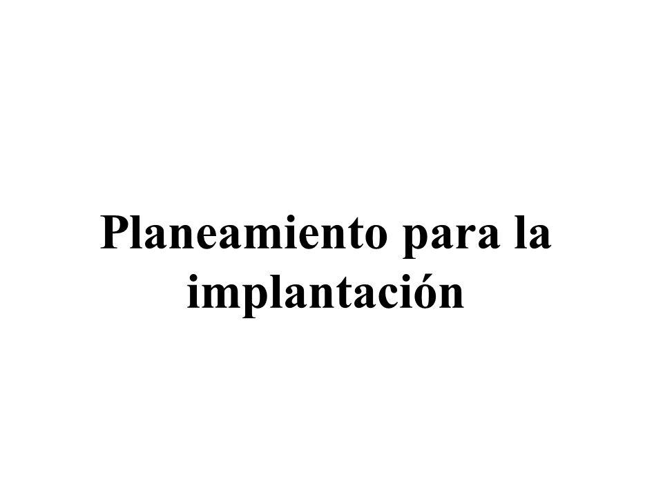 Planeamiento para la implantación