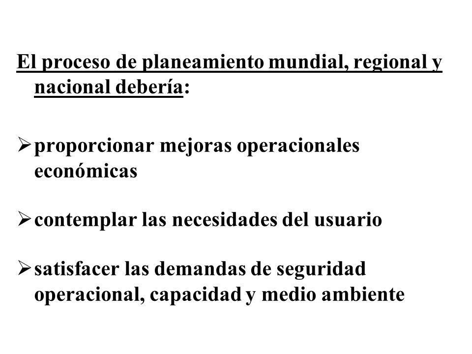 El proceso de planeamiento mundial, regional y nacional debería: