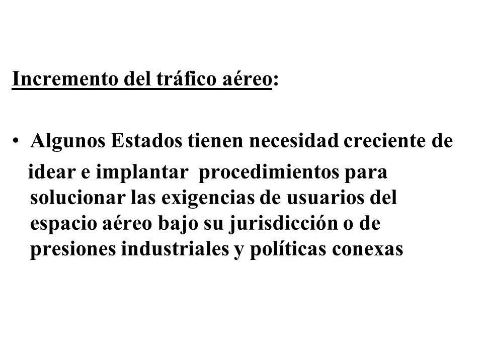 Incremento del tráfico aéreo:
