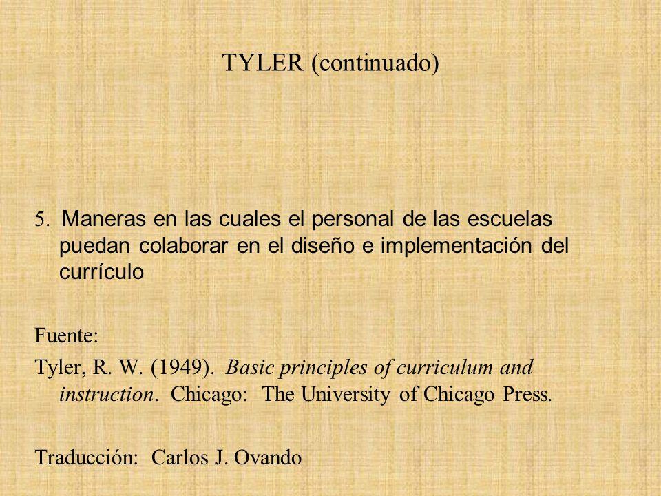 TYLER (continuado)
