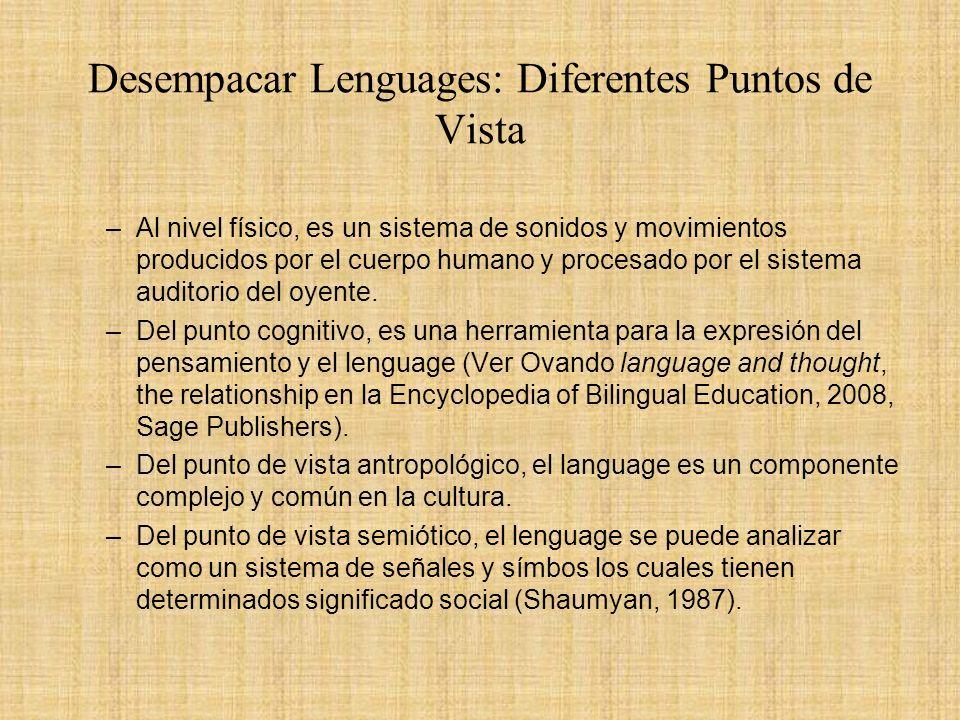 Desempacar Lenguages: Diferentes Puntos de Vista