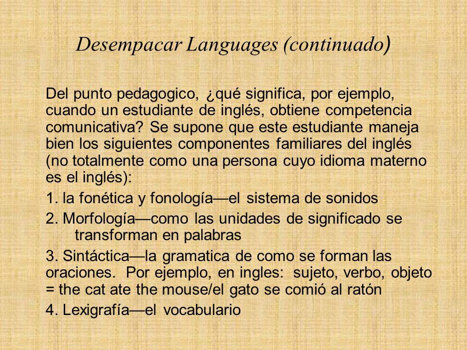 Desempacar Languages (continuado)
