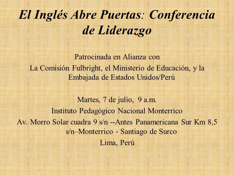 El Inglés Abre Puertas: Conferencia de Liderazgo