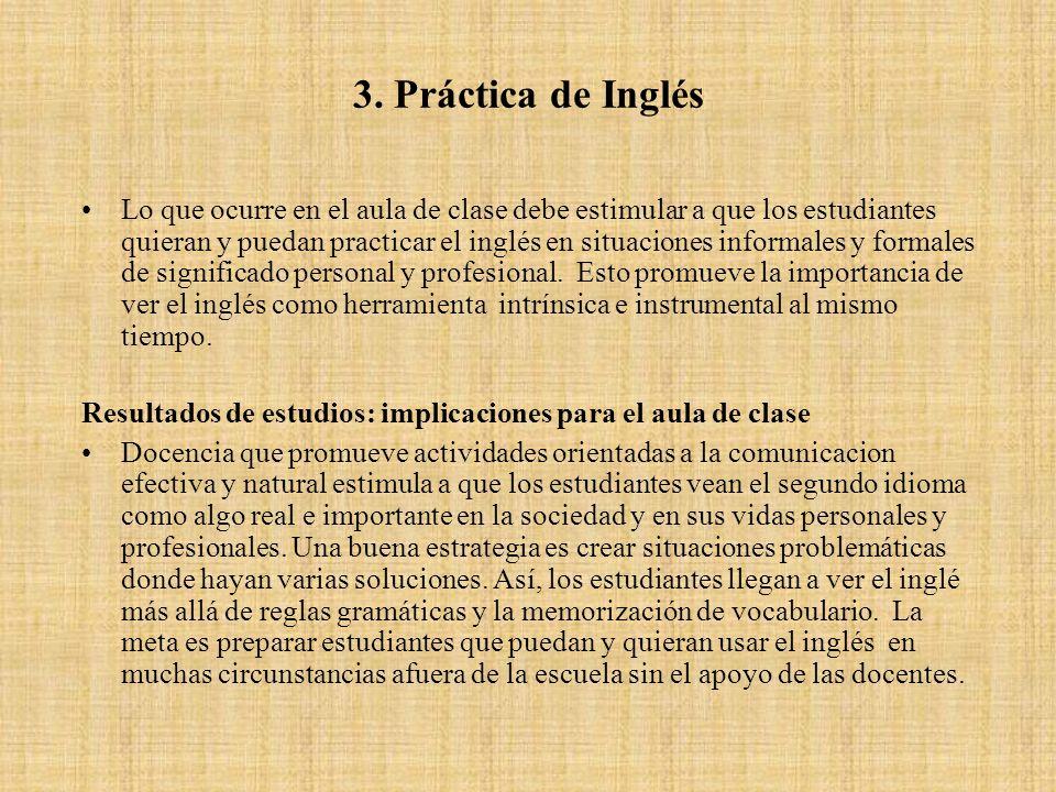 3. Práctica de Inglés