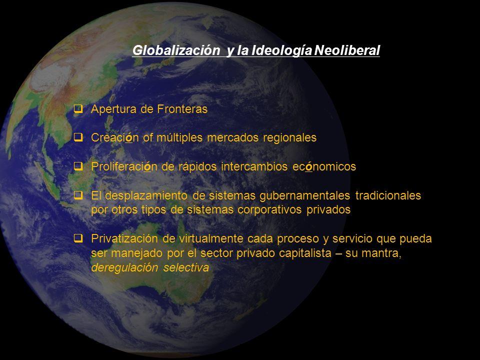 Globalización y la Ideología Neoliberal
