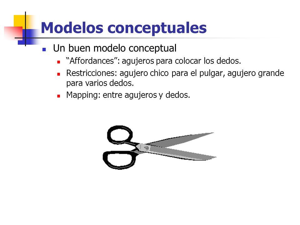 Modelos conceptuales Un buen modelo conceptual