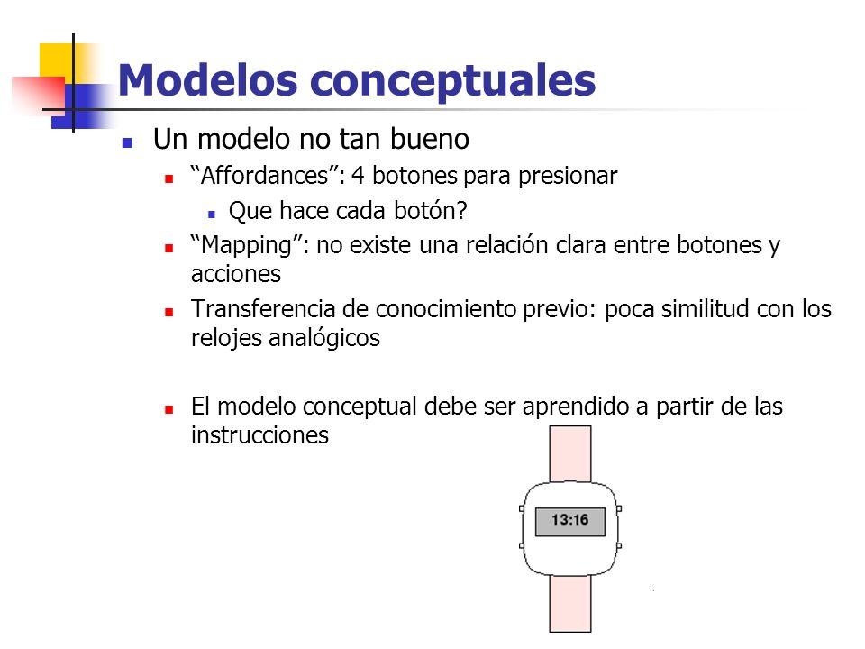 Modelos conceptuales Un modelo no tan bueno