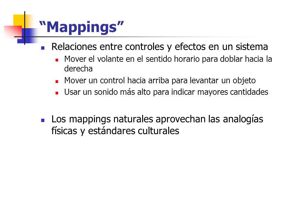 Mappings Relaciones entre controles y efectos en un sistema