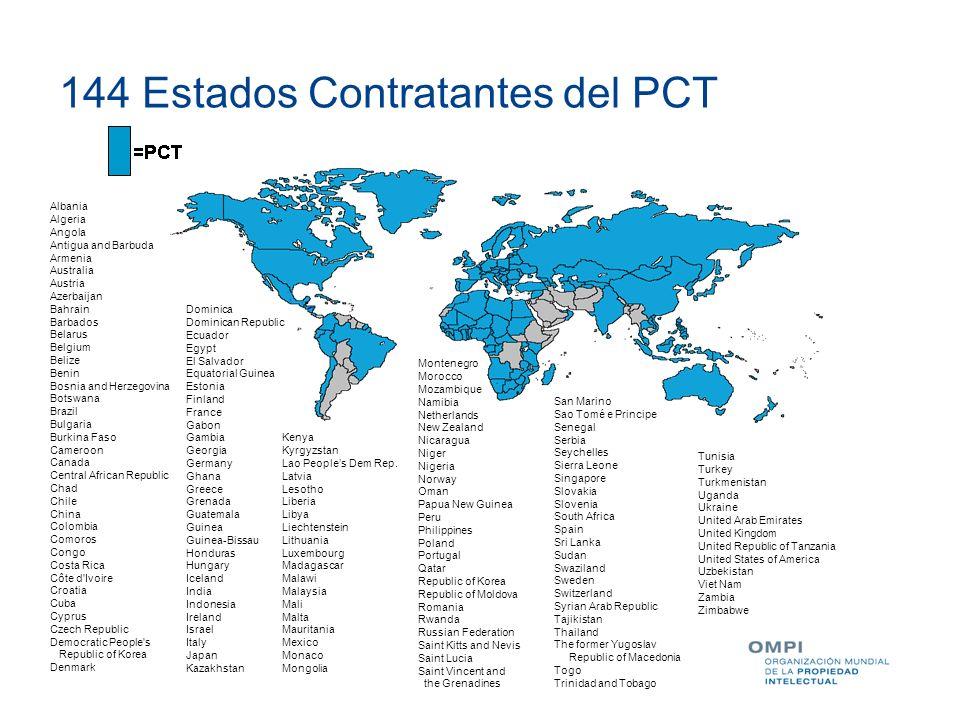 144 Estados Contratantes del PCT