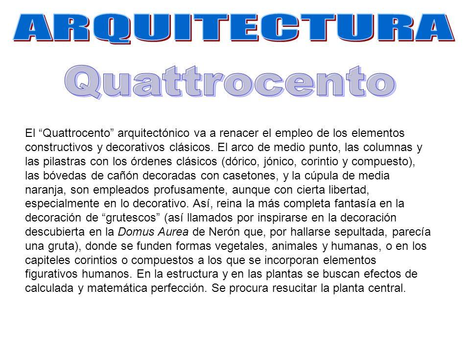 ARQUITECTURA Quattrocento