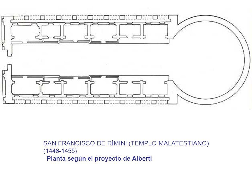 SAN FRANCISCO DE RÍMINI (TEMPLO MALATESTIANO) (1446-1455) Planta según el proyecto de Alberti