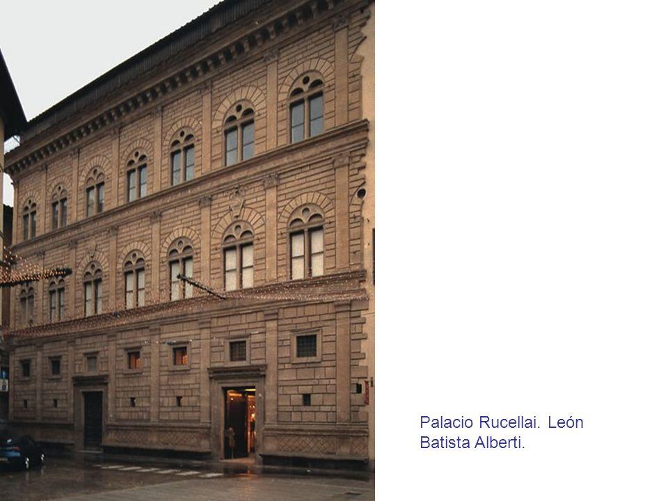 Palacio Rucellai. León Batista Alberti.