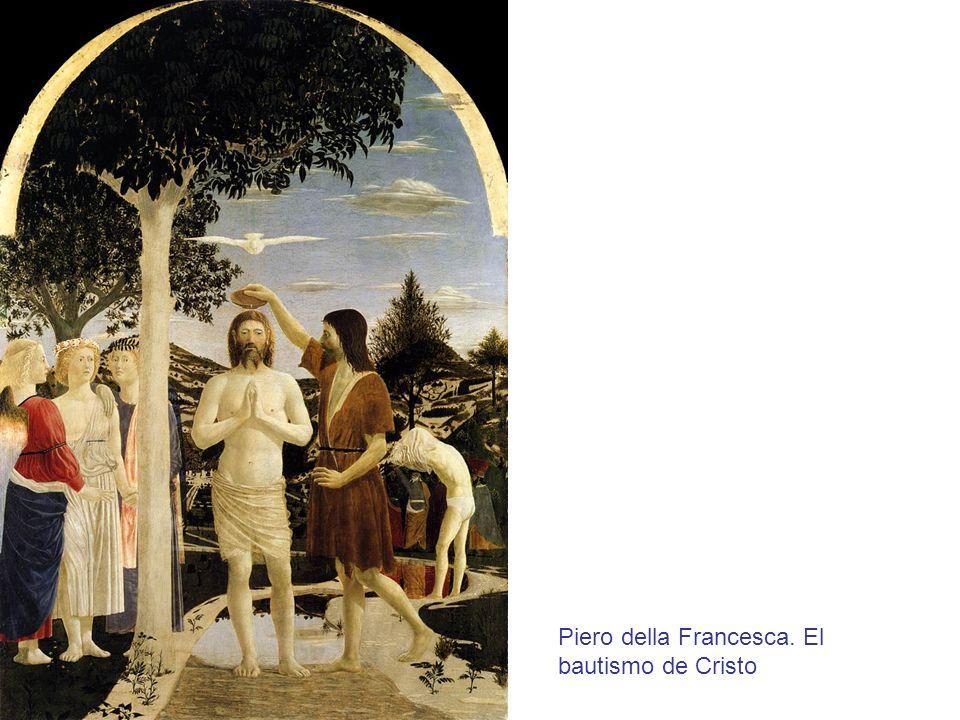 Piero della Francesca. El bautismo de Cristo