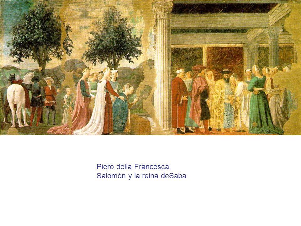 Piero della Francesca. Salomón y la reina deSaba