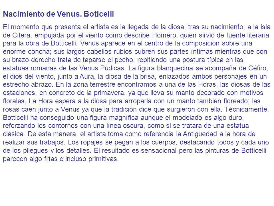 Nacimiento de Venus. Boticelli