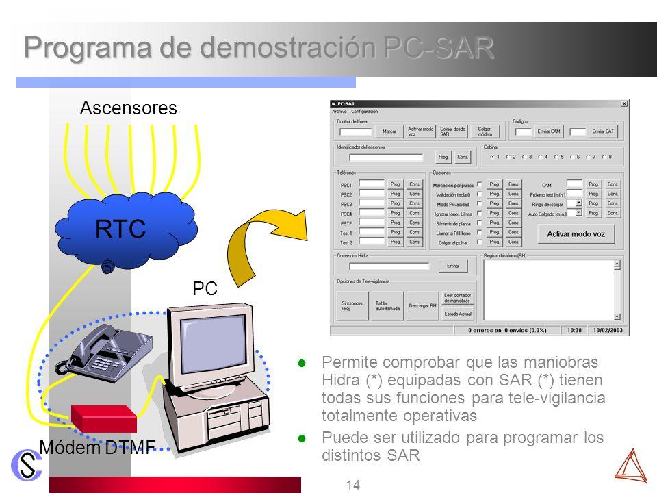 Programa de demostración PC-SAR