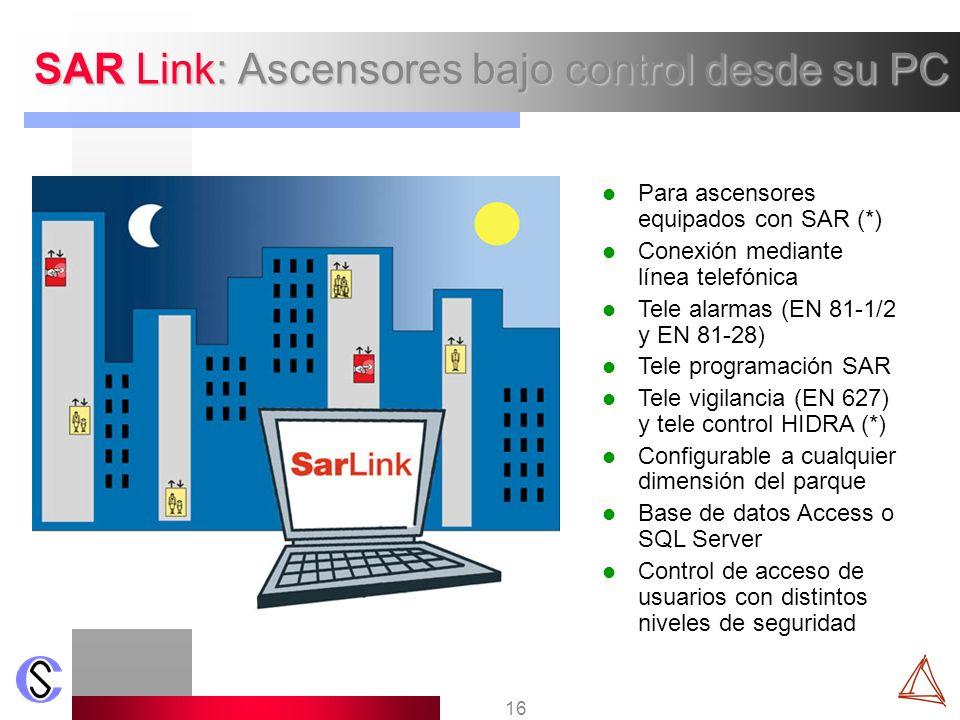 SAR Link: Ascensores bajo control desde su PC