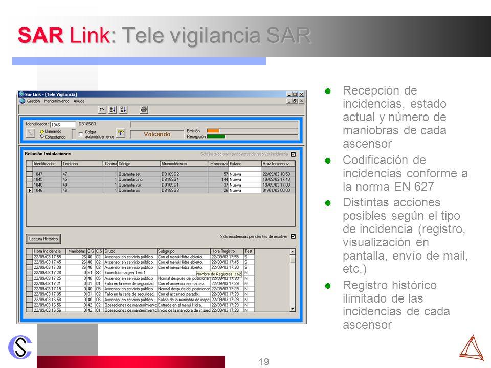 SAR Link: Tele vigilancia SAR