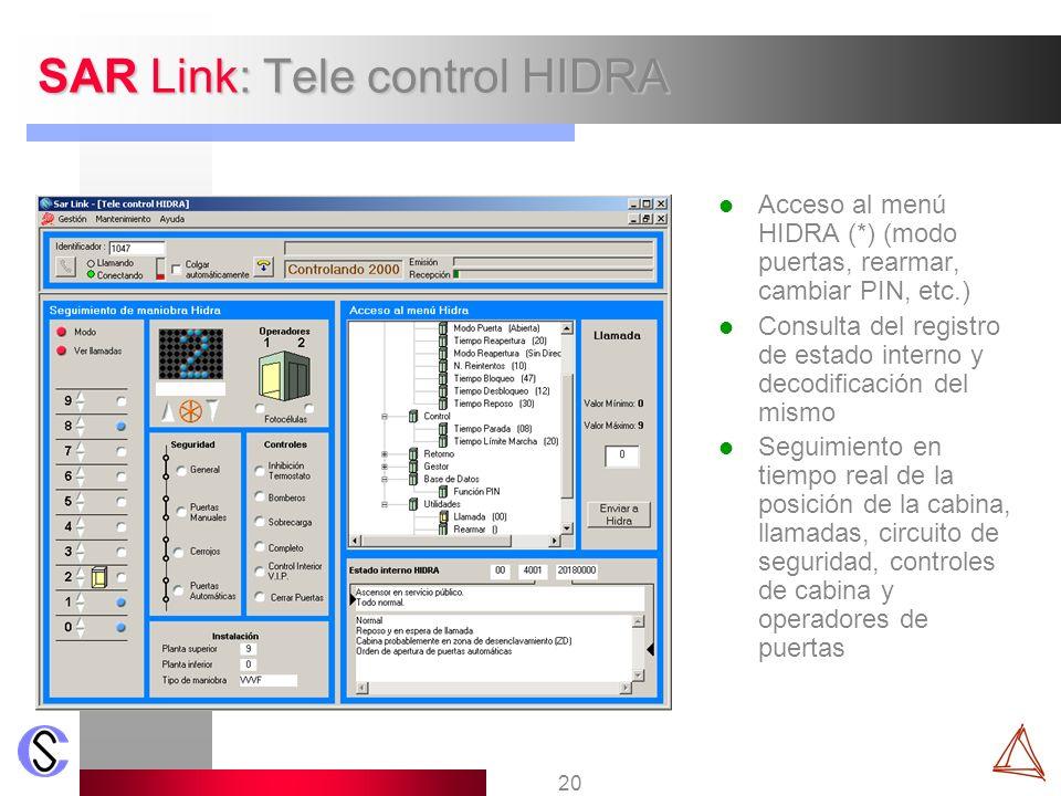 SAR Link: Tele control HIDRA
