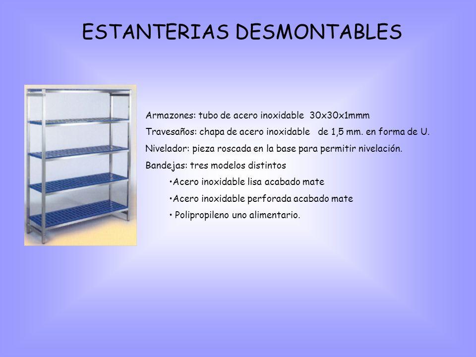 ESTANTERIAS DESMONTABLES