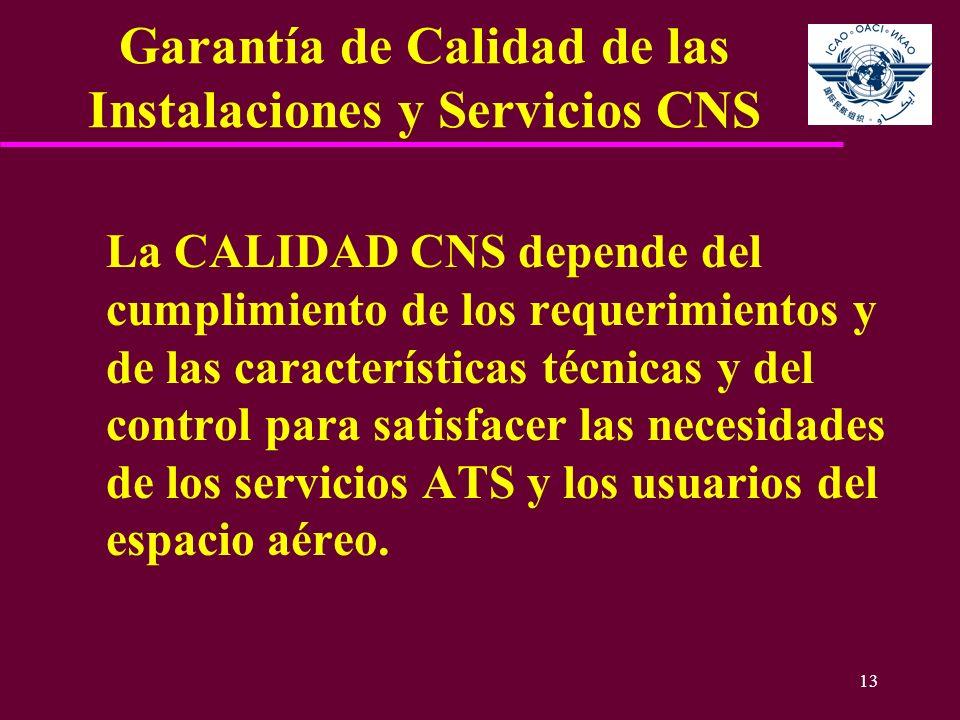 Garantía de Calidad de las Instalaciones y Servicios CNS