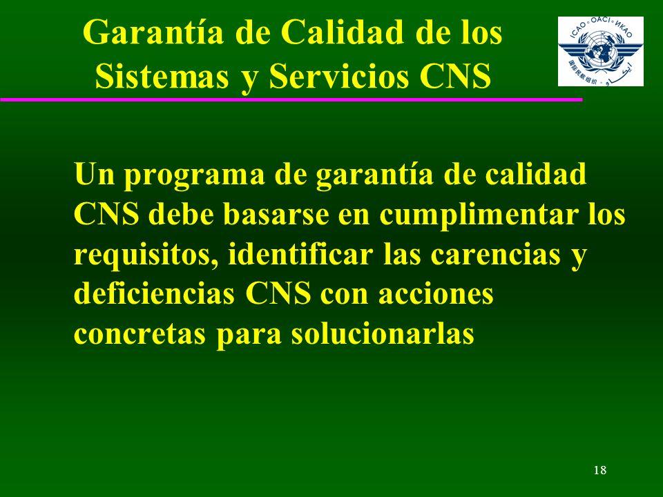 Garantía de Calidad de los Sistemas y Servicios CNS
