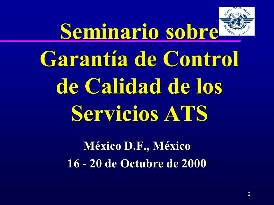 Seminario sobre Garantía de Control de Calidad de los Servicios ATS