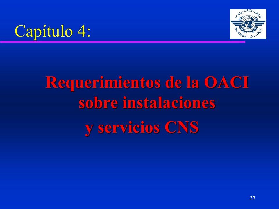 Requerimientos de la OACI sobre instalaciones