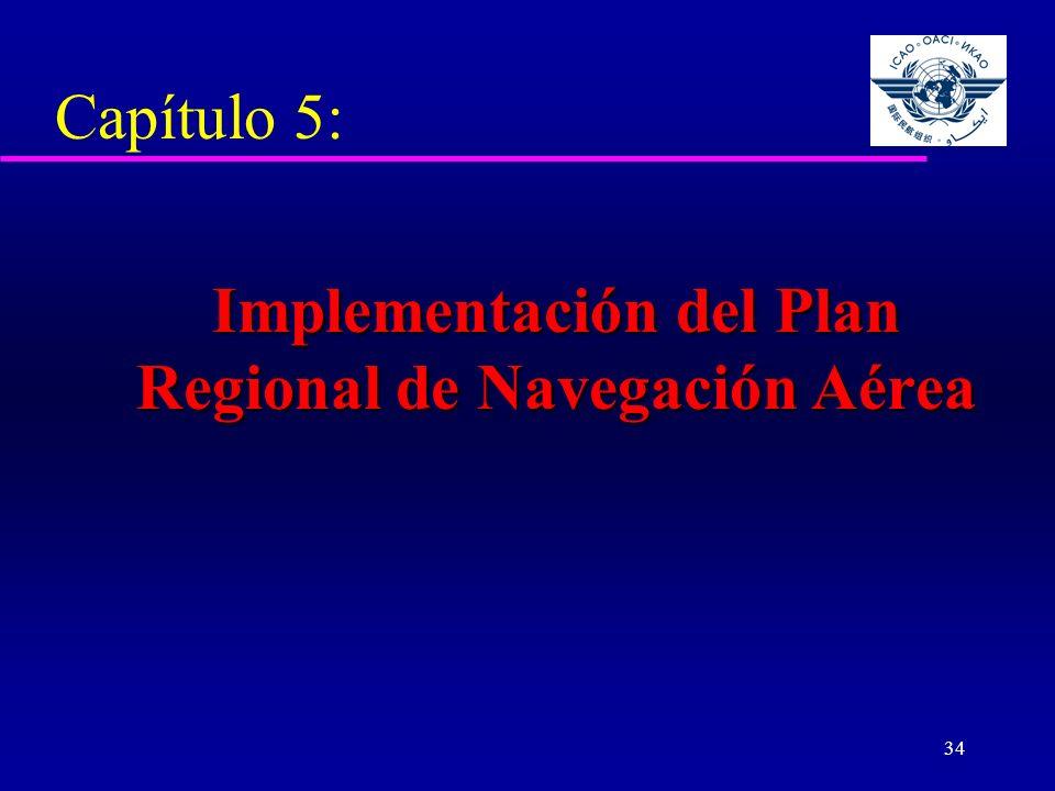 Implementación del Plan Regional de Navegación Aérea
