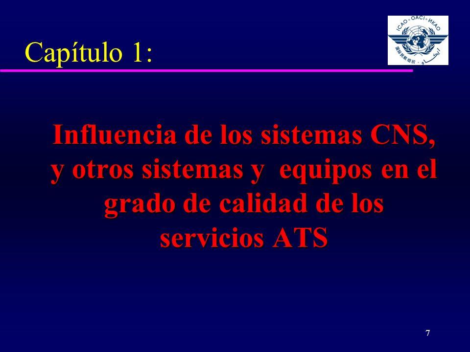 Capítulo 1: Influencia de los sistemas CNS, y otros sistemas y equipos en el grado de calidad de los servicios ATS.