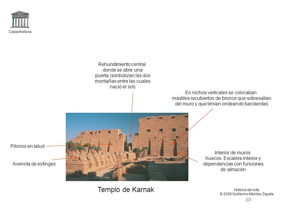 Templo de Karnak Rehundimiento central donde se abre una