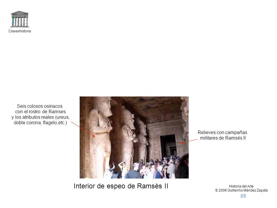 Interior de espeo de Ramsès II