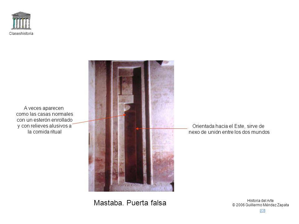 Mastaba. Puerta falsa A veces aparecen como las casas normales