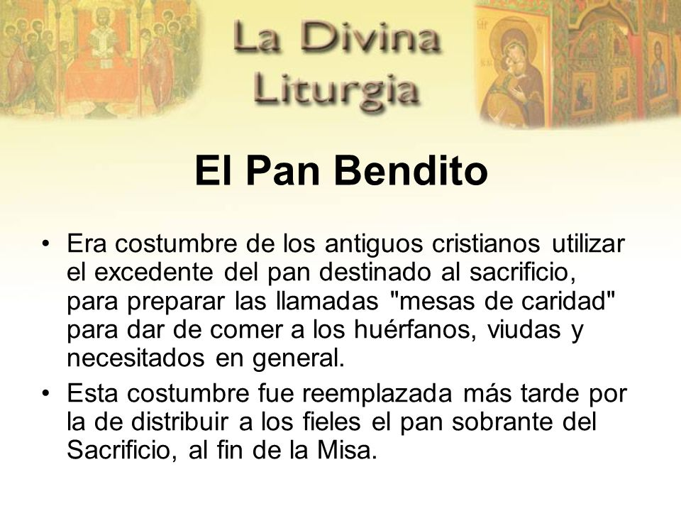 El Pan Bendito