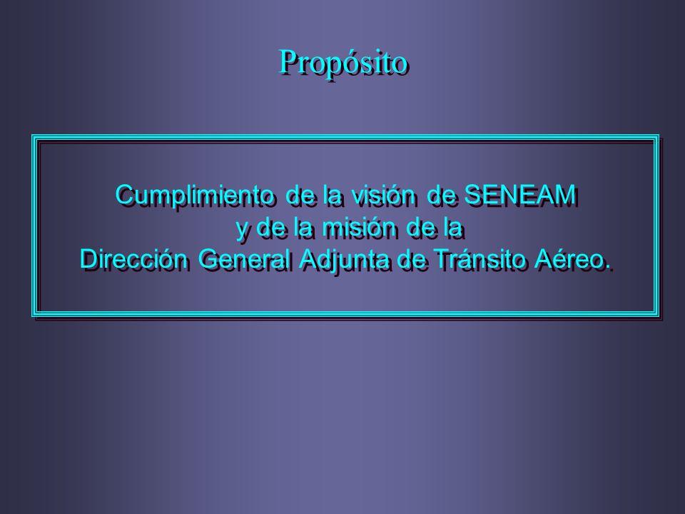Propósito Cumplimiento de la visión de SENEAM y de la misión de la