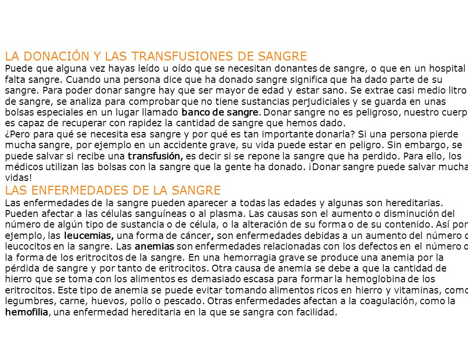 LA DONACIÓN Y LAS TRANSFUSIONES DE SANGRE