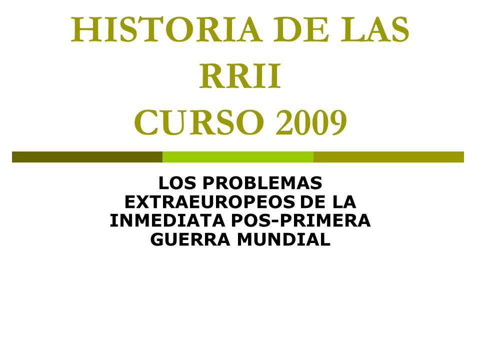 HISTORIA DE LAS RRII CURSO 2009