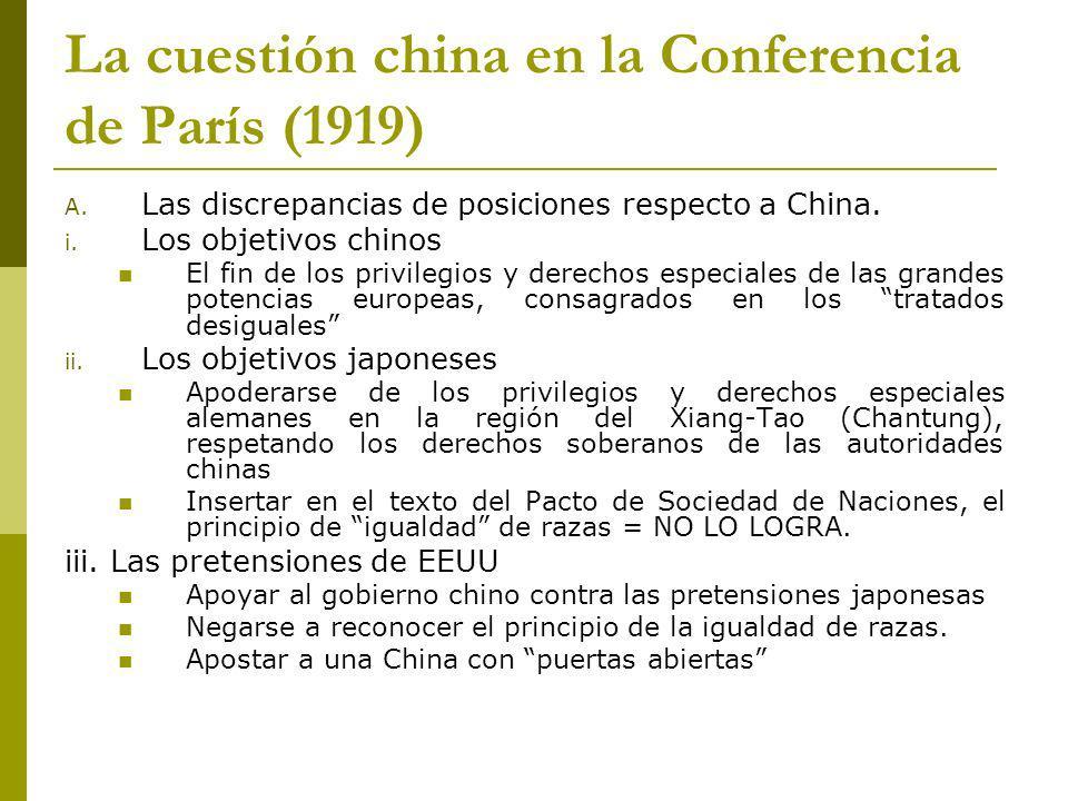 La cuestión china en la Conferencia de París (1919)