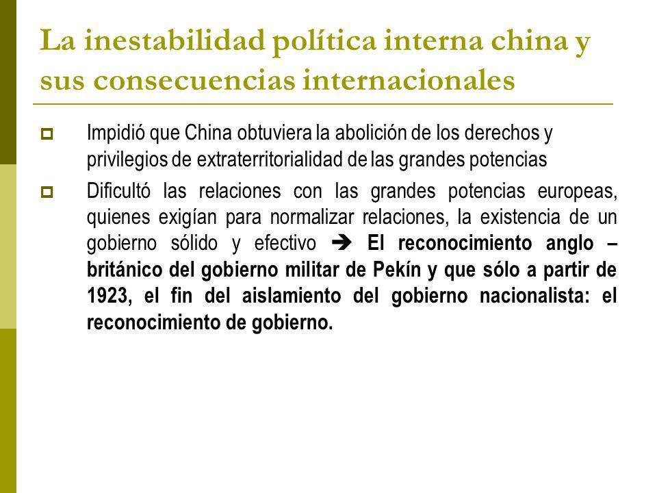 La inestabilidad política interna china y sus consecuencias internacionales