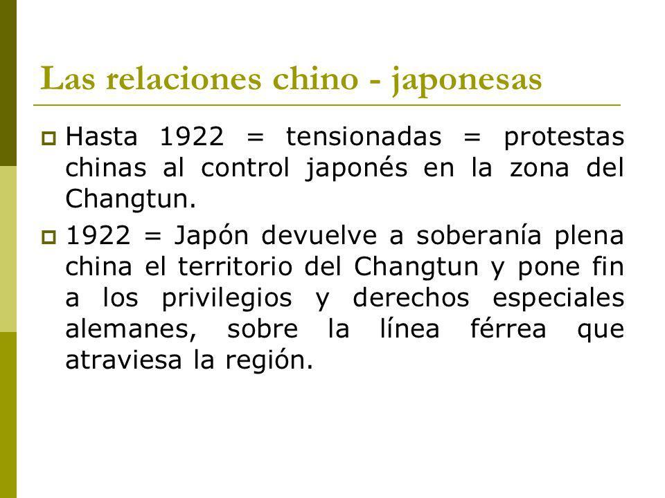 Las relaciones chino - japonesas