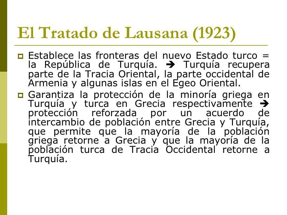 El Tratado de Lausana (1923)