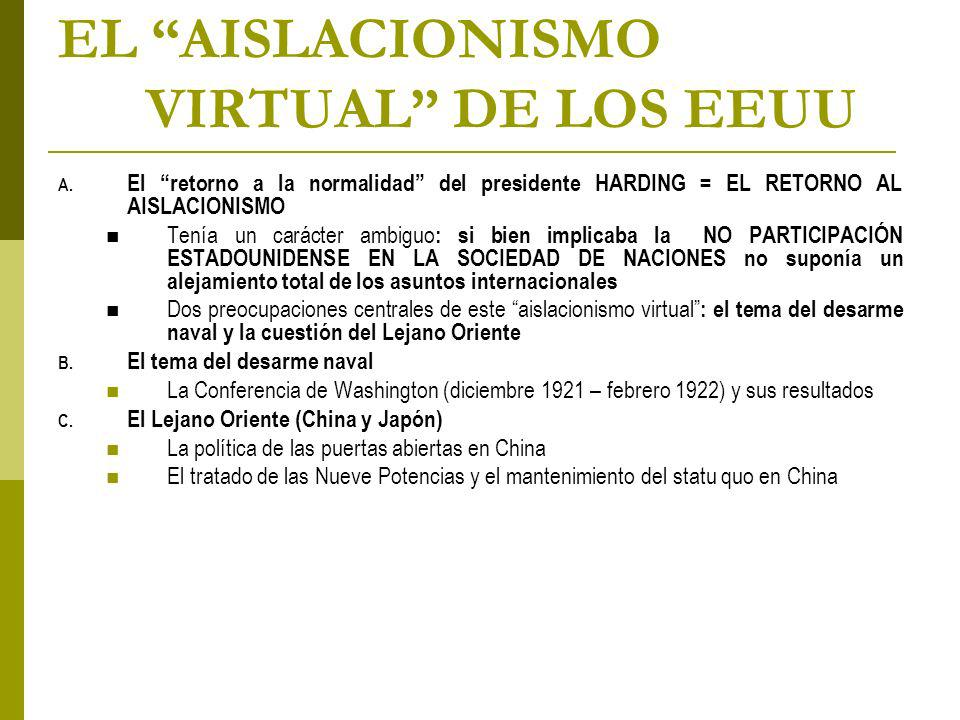 EL AISLACIONISMO VIRTUAL DE LOS EEUU