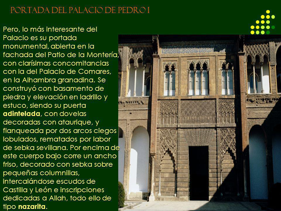 PORTADA DEL PALACIO DE PEDRO I